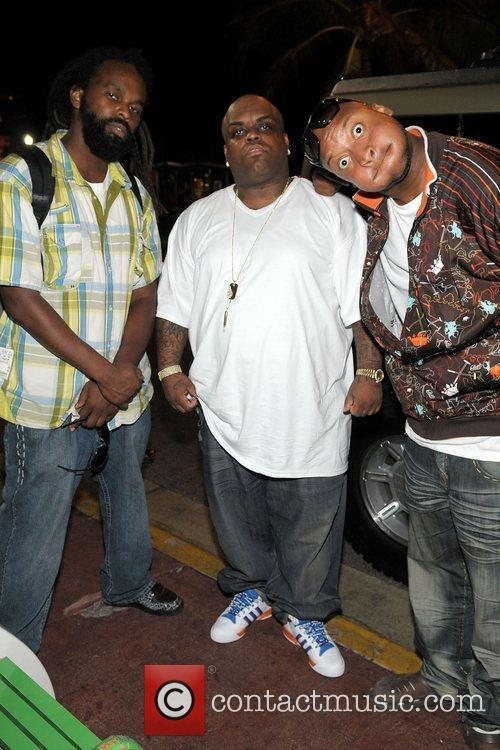 Fire, Cee-Lo and Bruckup Jazmine Sullivan concert afterparty...