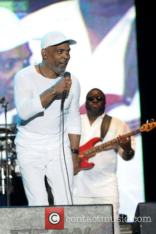 Maze & Frankie Beverly performing live during the...
