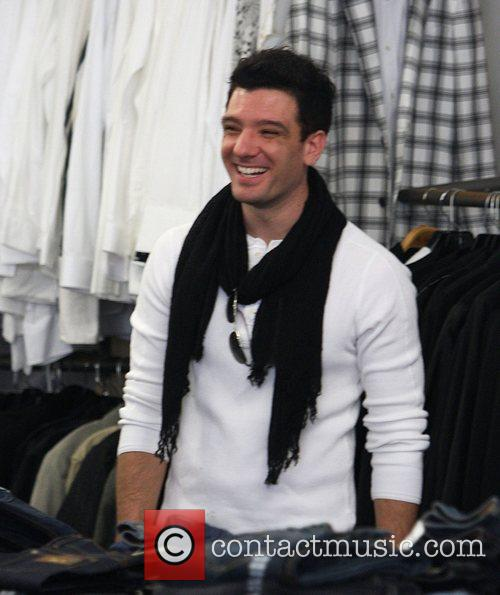 JC Chasez shopping at H. Lorenzo discount outlet...