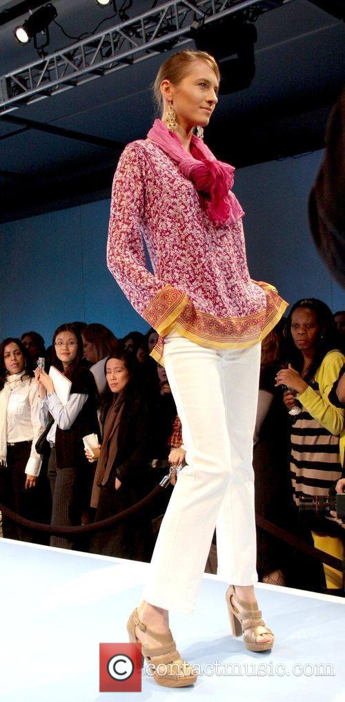 Model wearing a Nicole Miller design JCPenney Presents...