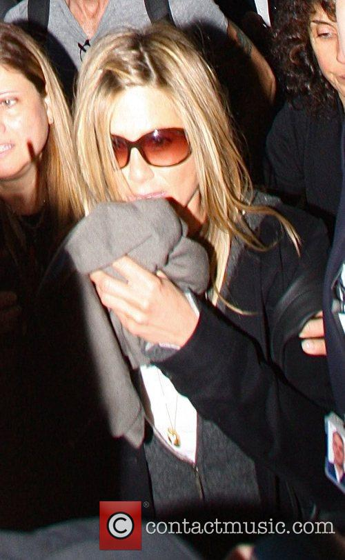 Jennifer Aniston arriving at at LAX airport.
