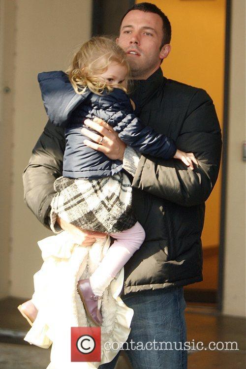 Ben Affleck picks up his daughter Violet Affleck...