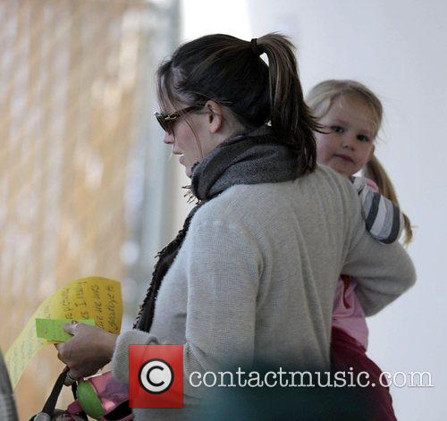 Jennifer Garner picks up her daughter, Violet Affleck,...