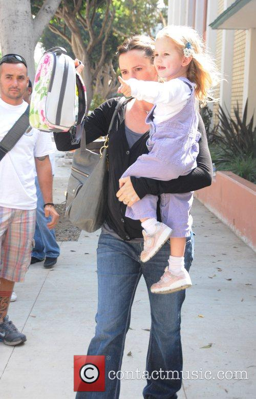 Collects daughter Violet Affleck from a school in...
