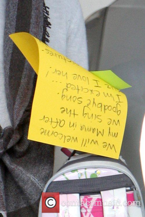 Violet Affleck's schoolwork  A heavily pregnant Jennifer...