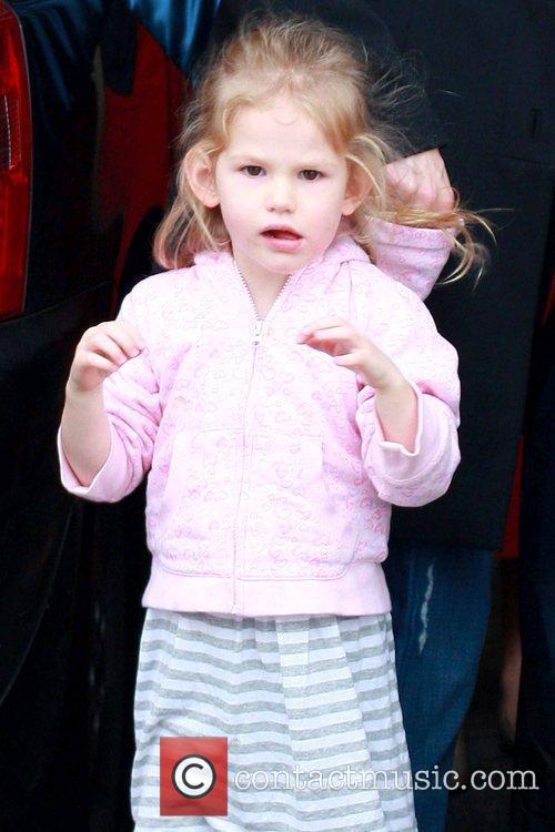Violet Affleck is picked up from school by...