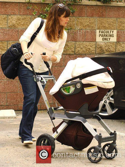 Jennifer Garner takes her three month old baby,...