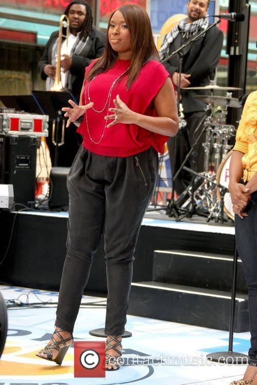 Jennifer Hudson performing live on the Today Show's...