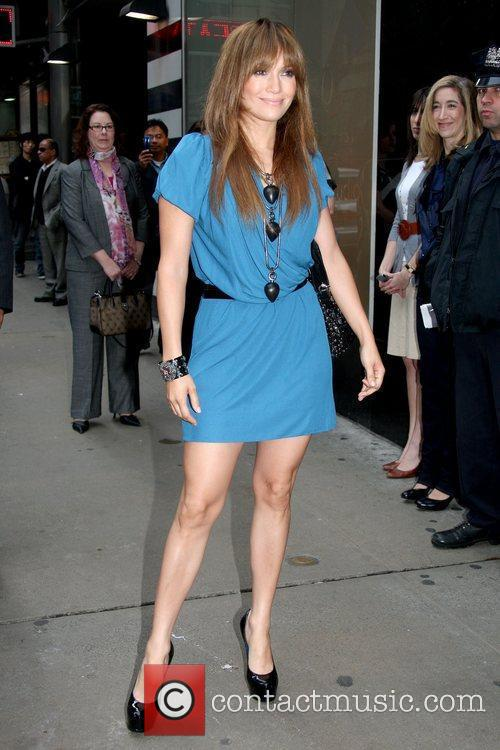 Jennifer Lopez outside ABC Studios before appearing on...