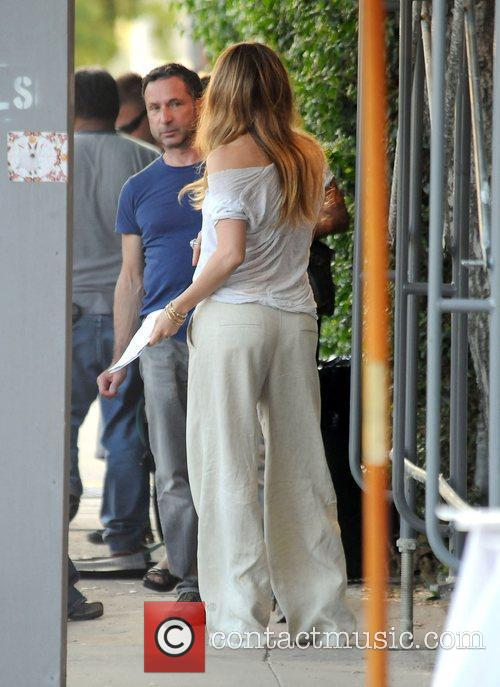 On the set of her new film 'The...