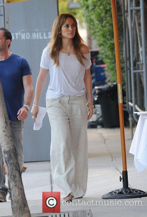 Jennifer Lopez on the set of her new...