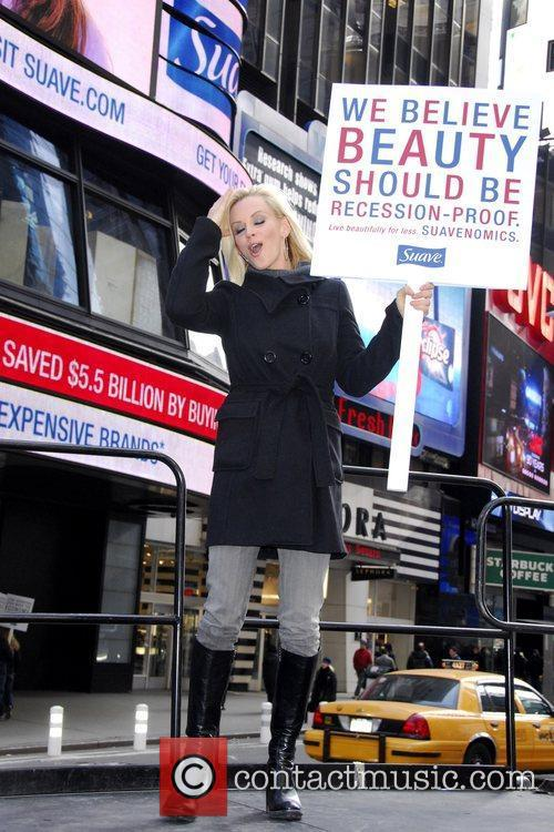 Jenny McCarthy launches the Suave 'Beauty Stimulus' campaign,...