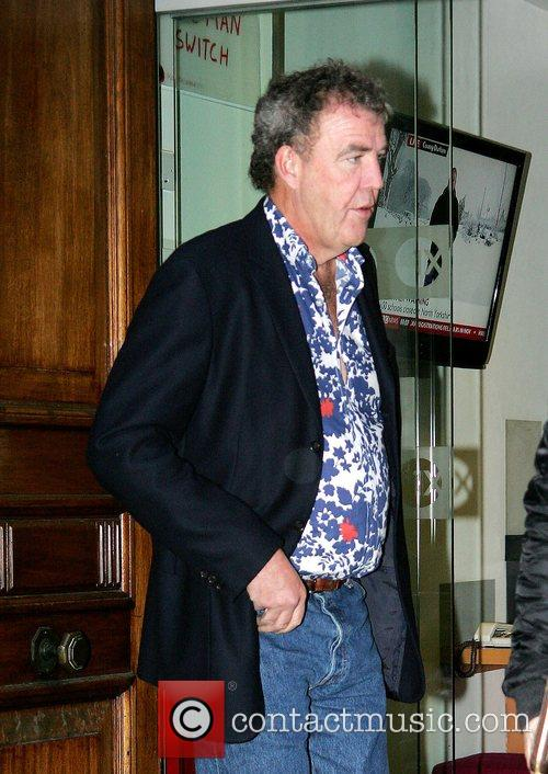 Jeremy Clarkson leaving Radio 1 studios early this...