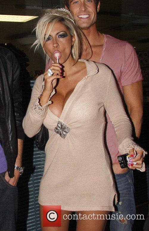 Jodie Marsh outside Maya nightclub in Soho London,...