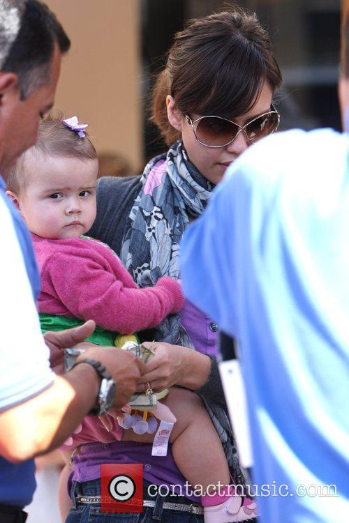 Jessica Alba leaving Toast cafe with daughter Honor