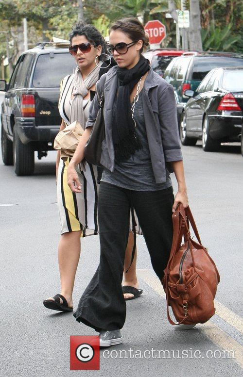 Jessica Alba  leaving the Earth Cafe on...