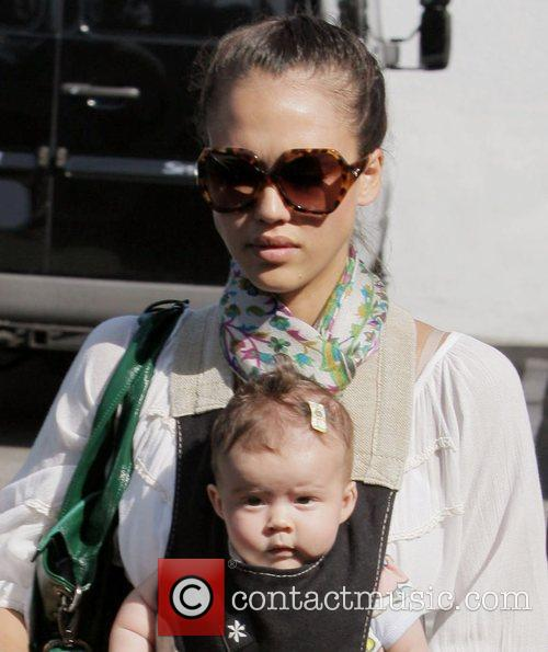 Jessica Alba  taking her baby, Honor Marie...