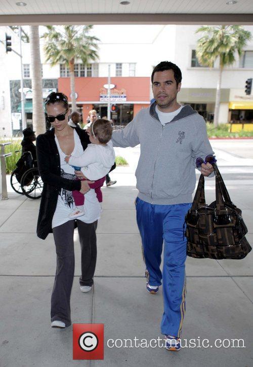 Jessica Alba, Cash Warren, and daughter Honor Marie...