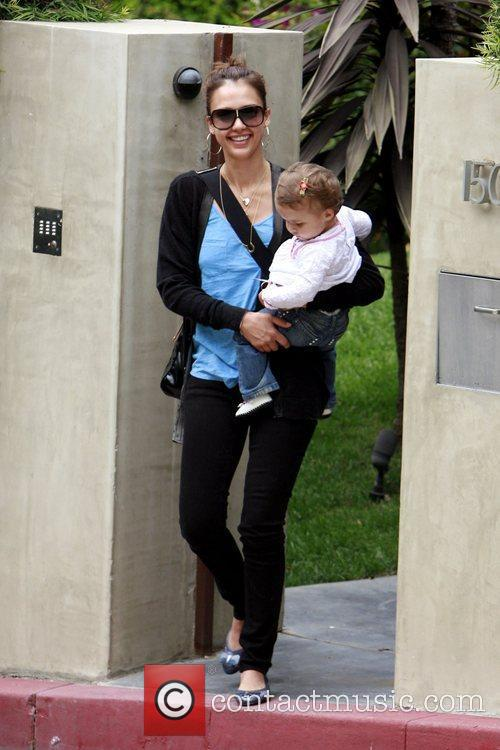 Jessica Alba and Her Daughter Honor Marie Warren 2