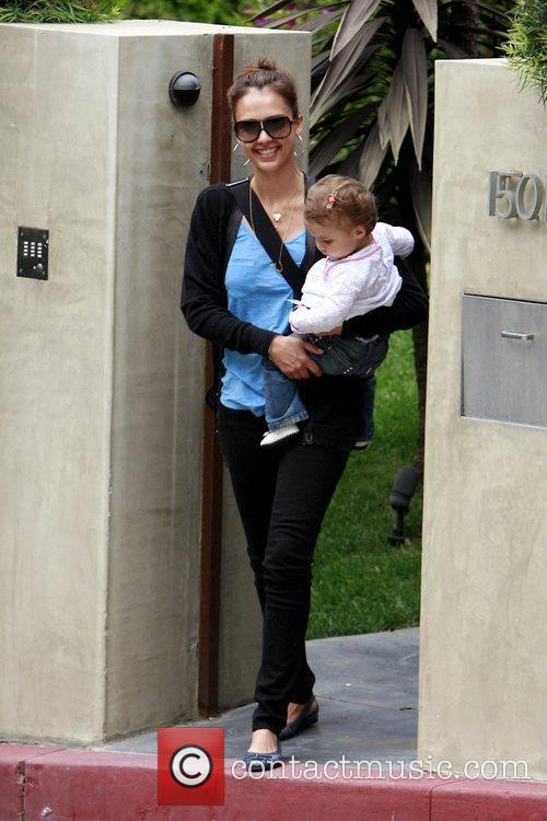 Jessica Alba and Her Daughter Honor Marie Warren 4