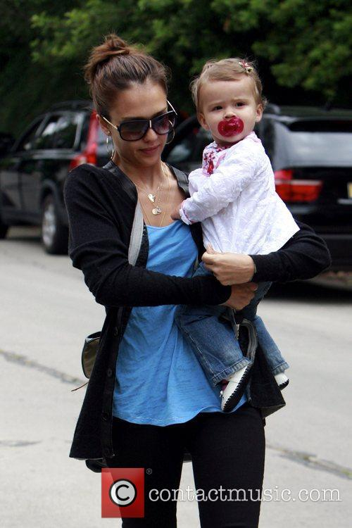 Jessica Alba and Her Daughter Honor Marie Warren 6