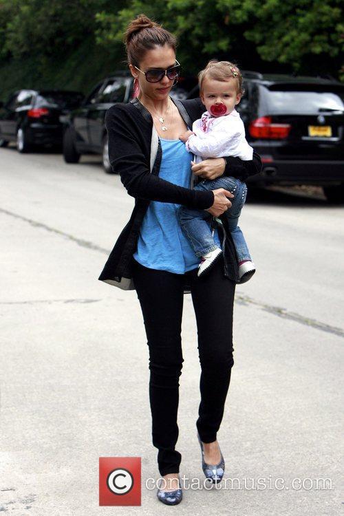 Jessica Alba and her daughter Honor Marie Warren 12