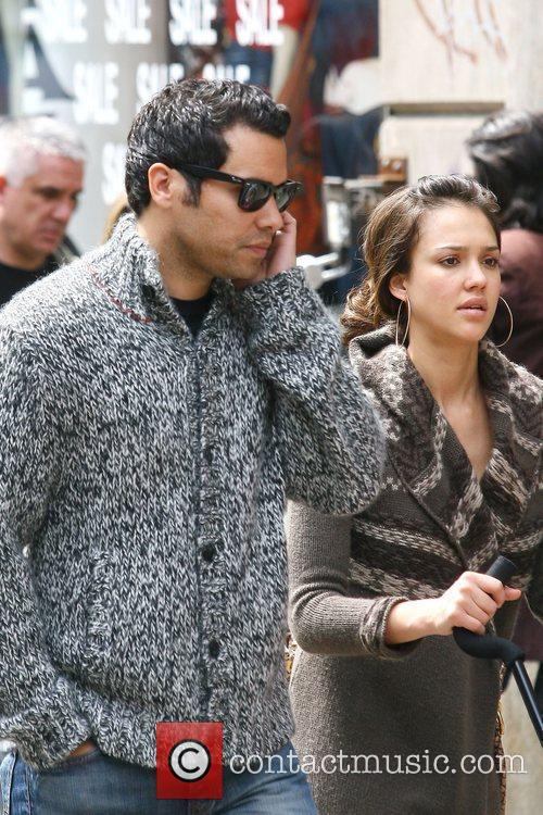 Jessica Alba spotted with her husband, Cash Warren,...