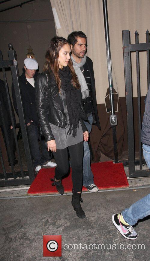 Jessica Alba and husband Cash Warren leaving the...