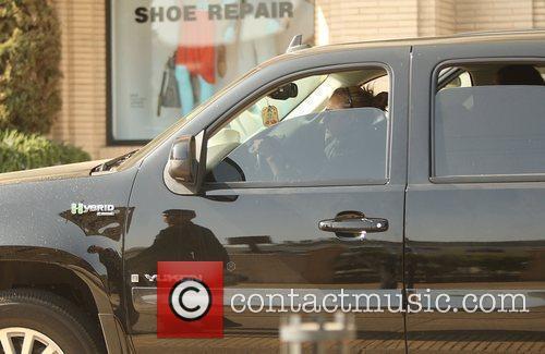 Jessica Alba  driving through Beverly Hills on...