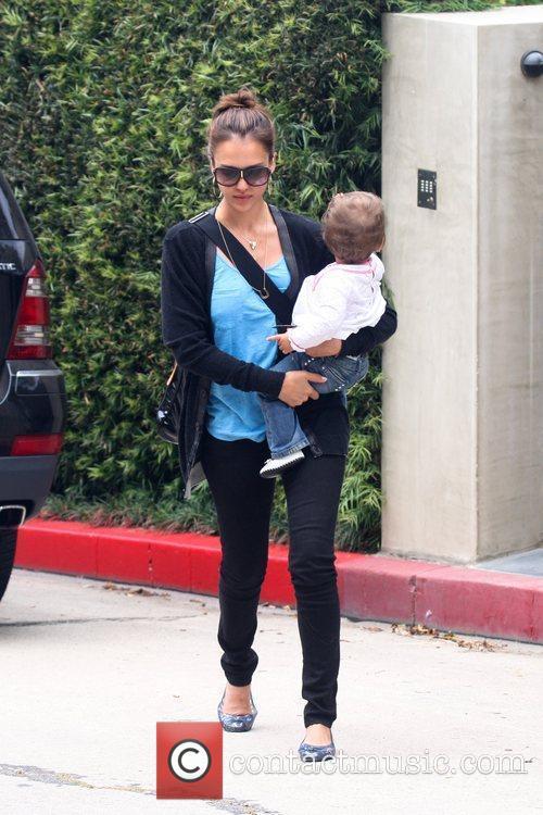 Jessica Alba and Her Daughter Honor Marie Warren 6