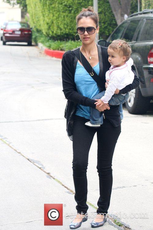 Jessica Alba and Her Daughter Honor Marie Warren 4