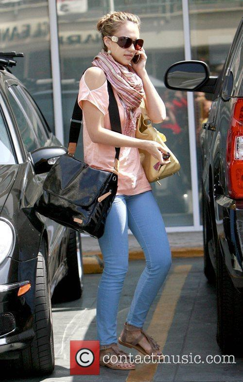 Jessica Alba shopping at Sunset Plaza in West...