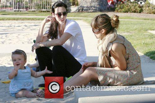 Jessica Alba at the Cold Water Park with...