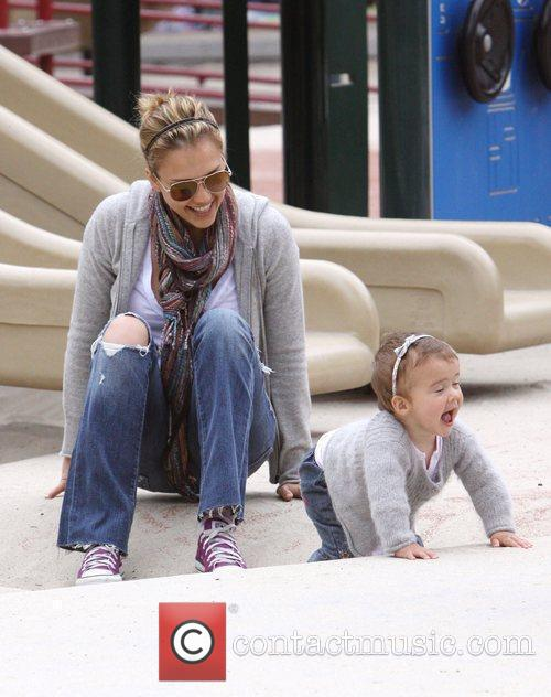 Jessica Alba at the Cold Water Park in...