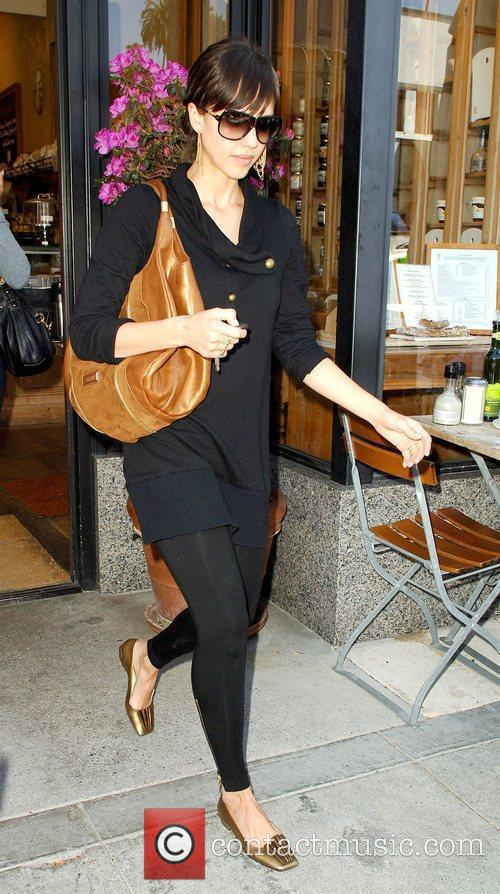 Leaving Le Pain Quotidien restaurant in Beverly Hills...