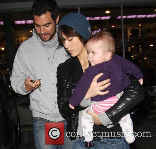 Cash Warren, Jessica Alba and daughter Honor Marie...