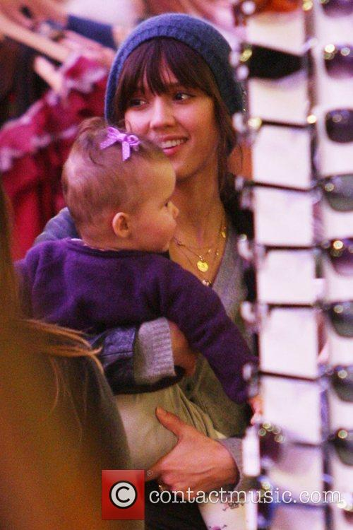Jessica Alba and daughter Honor Marie seen out...