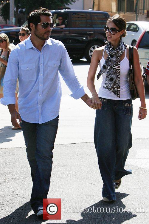 Jessica Alba and Cash Warren have lunch in Brentwood 13