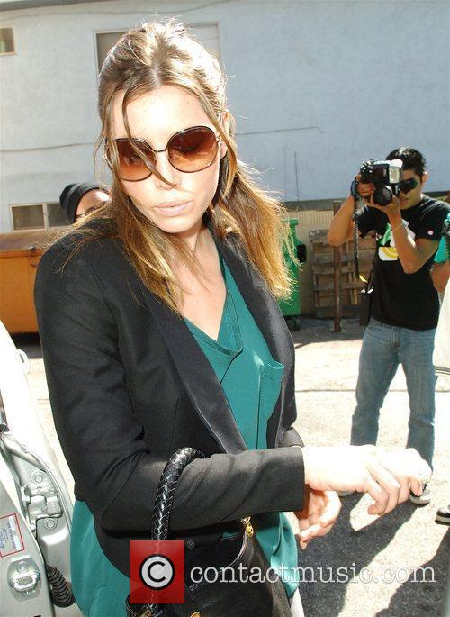 Arrives at Orso Restaurant in Beverly Hills to...