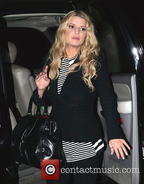 Jessica Simpson arrives at Mastro's Steakhouse in Beverly...