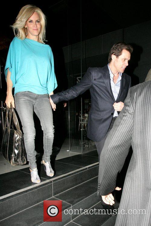 Exiting Katsuya restaurant in Hollywood