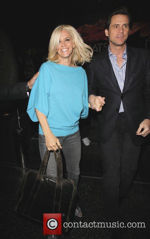 Jenny McCarthy and Jim Carrey leaving Katsuya restaurant...