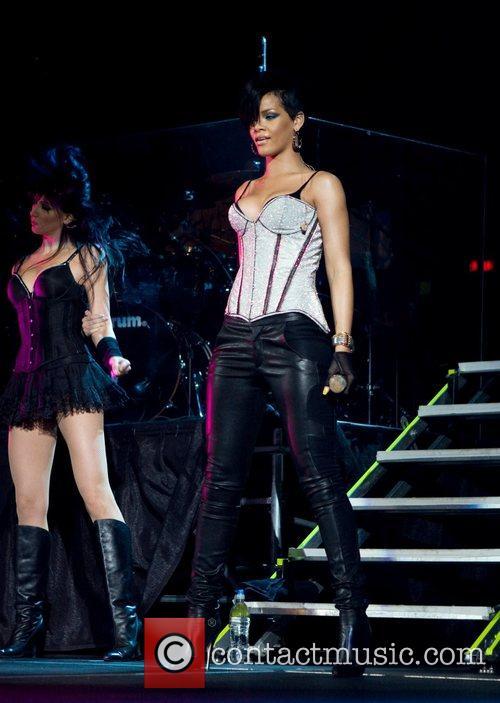 Rihanna performs at the B96 Jingle Bash at...