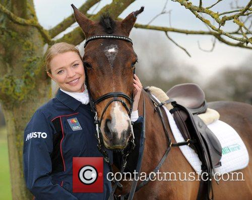 Jodie Kidd in training at The All England...