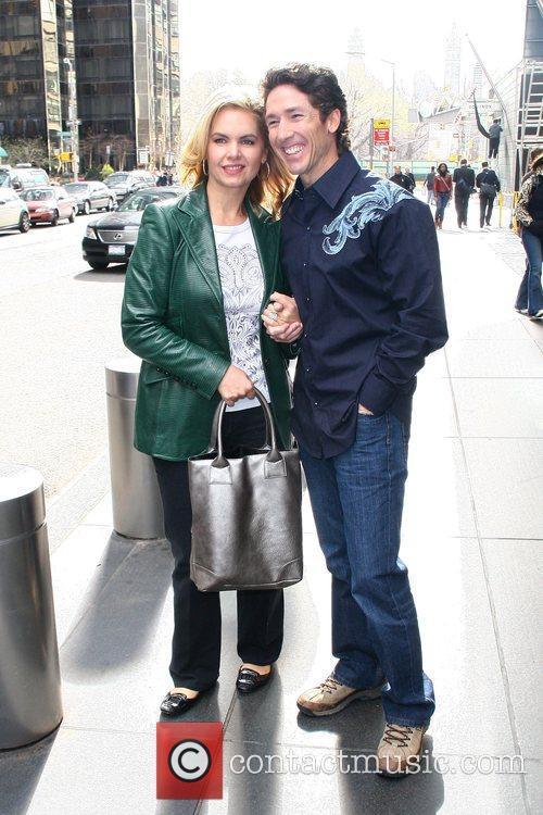 Outside their Manhattan hotel