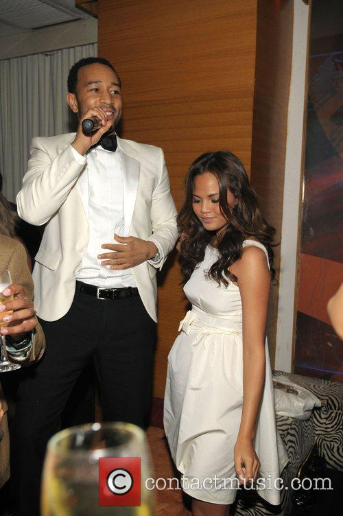 John Legend and Girlfriend Christy Teigen 9