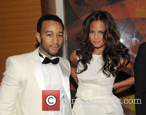 John Legend and Girlfriend Christy Teigen 11