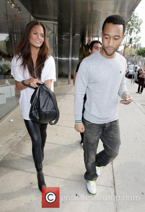 John Legend and His Girlfriend Christy Teigen Go Shopping At Intermix 1