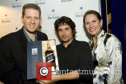 Johnnie Walker Blue Label holiday engraving lounge launch...