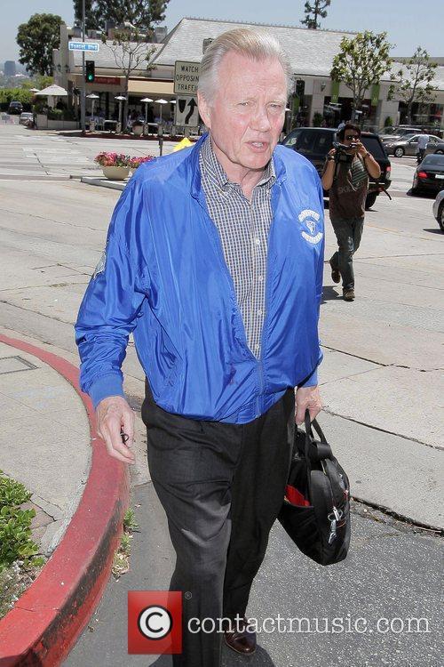 Jon Voight, wearing a jacket on a very...